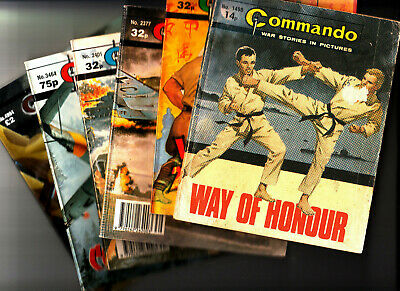 LOT of 6 COMMANDO Comics War Stories in Pictures 1498-4994 Action Plus FREE POST