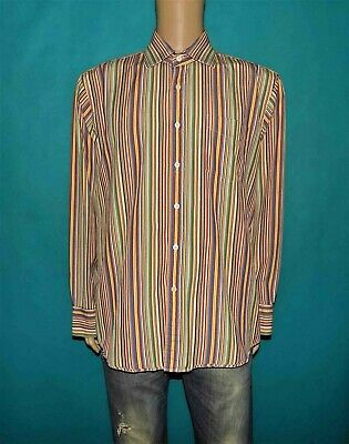 Shirt Paul Smith Cotton Striped Size 44/17 or XL Great Condition
