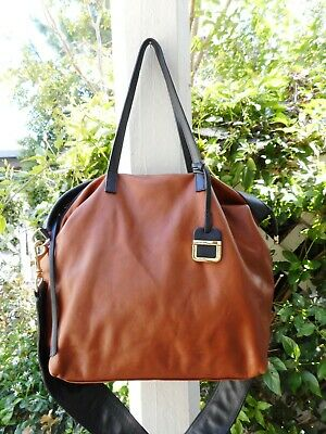 926ae99388cf INNUE WOMEN'S GRAY/BROWN/BLACK Genuine Leather Large Shoulder Bag Made in  Italy