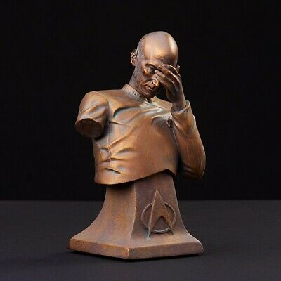 Star Trek TNG Captain Picard Facepalm Bust Bronze Edition LIMITED to 6,000 NEW