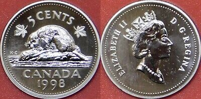 Specimen 1998 Canada 5 Cents From Mint's Set