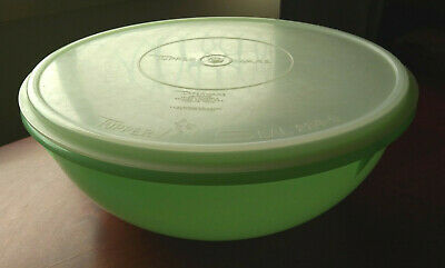 Tupperware Container - Vintage Green - Huge 32cm - 274-3 - Aust. Made with Seal