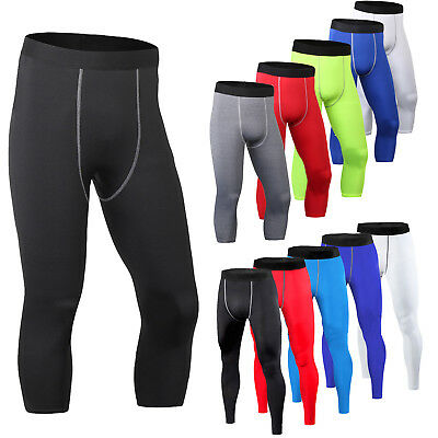 Men's Gym Workout Running Compression Fitness Jogging Sports Leggings Trousers