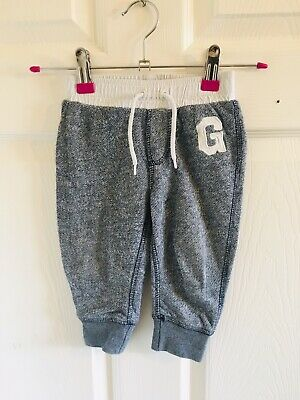 Grey & White Soft Feel Baby Gap Joggers Age 12/18 Months (2263) Jogging Bottoms