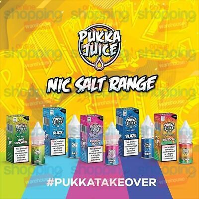 Pukka Juice Premium Nic Salt E Liquid Vape Juice Salts 10mg or 20mg