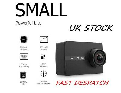 "4K Sports Action Camera ""YI Lite"" 16MP SONY Sensor 1080P 60fps Wifi BT 2"" Screen"