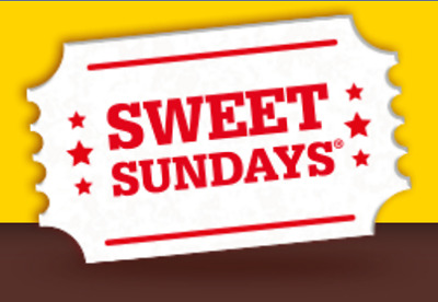 Cineworld Cinema Tickets Sweet Sunday* Packet with 2 stars**