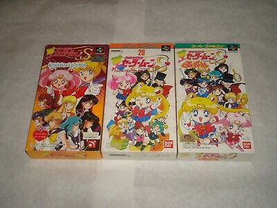 Sailor Moon S lot of 3 Japanese Japan import Nintendo Super Famicom games