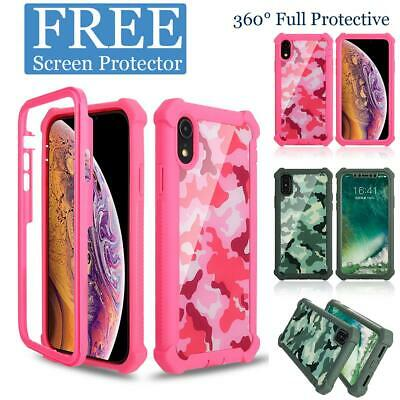 For iPhone XR XS MAX 6 7 8 Plus Protective Shockproof Heavy Duty Hybrid Case