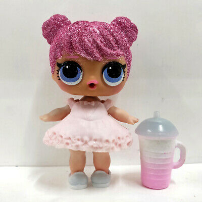 lol doll Big Sister Serie Glitter Pink Hair White Dress Kids Birthday Gift