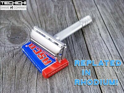 1948 Gillette 40s Style Super Speed Replated in Rhodium Matte Safety Razor