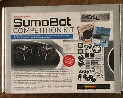 PARALLAX PROGRAMMABLE REMOTE Controlled Sumo Bot Kit - $199 95