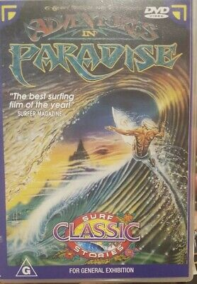 Adventures In Paradise Rare Dvd Surfing Documentary Film Mike Ho & Shaun Tomson