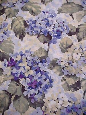 Beautiful BLUE HYDRANGEA Cottage OVAL Tablecloth Easy Care FLORAL Lovely Colors
