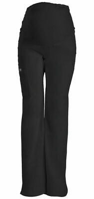 f1422981bbc23 Cherokee Scrubs Core Stretch Maternity Pant 4208 Black BLKW Womans Sz XS