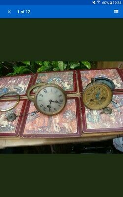 Vintage French mantle Clock  movement  for Part or  Spare or Repair