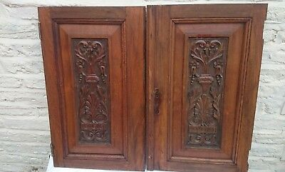 Pair Of Decorative Victorian Carved Panels