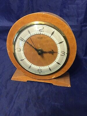 Vintage Smiths Electric  Clock Case Converted To Battery