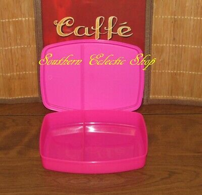 Tupperware Small Lunch-It Divided Dish Snack Container Pink