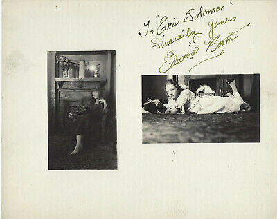 1930'S Tragic Actress Edwina Booth ,Autographed Studio Photo. (Vandamm)