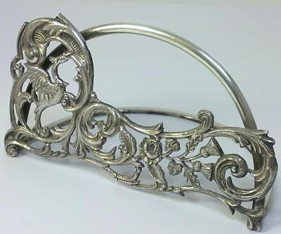"Victorian hallmarked Sterling Silver 4 ½ "" (11.5cm)  Menu Holder – 1899  (64g)"