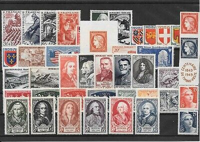France Annee Complete 1949 Du N° 823/62 Neuf Sans Charniere+++++++++++