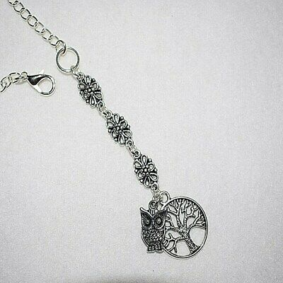 Tree Of Life Owl Filigree Rear View Car Mirror Charm Driving Test Pass Gift