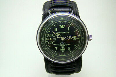 German Pilot Luftwaffe Military Watch War2 Ww2 Type Vintage Working