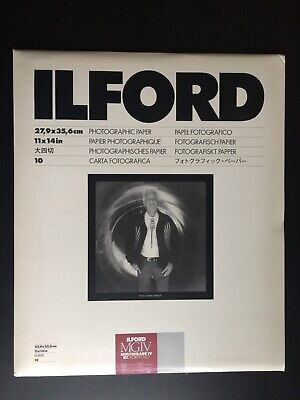 NEW Ilford 11 x 14 in Multigrade IV RC Photographic Paper, Pearl, 10 Sheets
