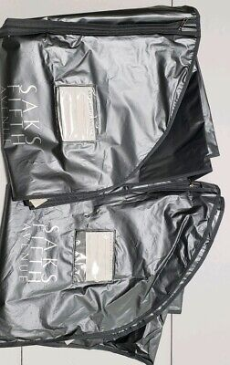 Lot of 2 Saks Fifth Avenue Zipper Garment Suit Dress Travel Storage Bag 61X24