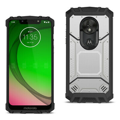 MOTOROLA MOTO G7 PLAY Metallic Front Cover Case In Silver