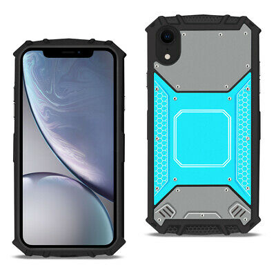 APPLE IPHONE XR Metallic Front Cover Case In Blue and Gray