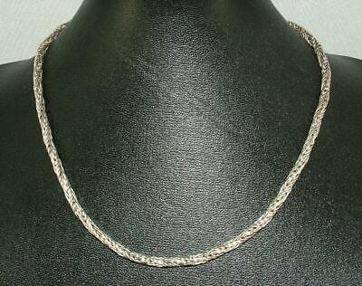 39 g HEAVY BYZANTINE SOLID SILVER WHEAT ROPE NECKLACE 925 NECK CHAIN 17.5 INCH