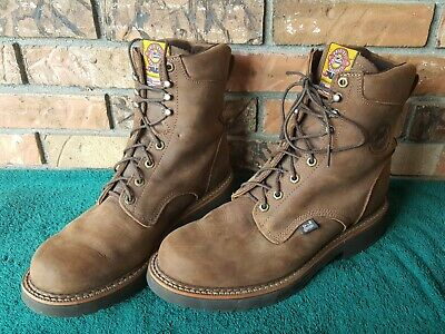 a9b8ec82322 JUSTIN MENS DOUBLE Comfort Work Boots #768 Size 7.5 EE - $19.99 ...