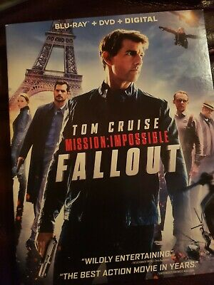 Mission Impossible Fallout  (Blu Ray + DVD) w/ SLIPCOVER