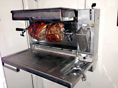Grill Spit Kebab Folding Wall Mount-  Highly Sought Aga Cooker Owners B