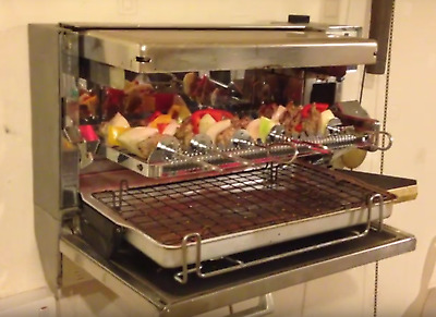 Grill Spit Kebab Folding Wall Mount-  Highly Sought Aga Cooker Owners Electric