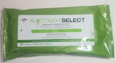 Medline Aloe touch hypoallergenic personal cleansing wipes 1 pack new unopened