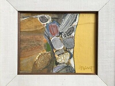 James Jim Grant Collage Painting San Francisco 1964 Listed artist Mid century