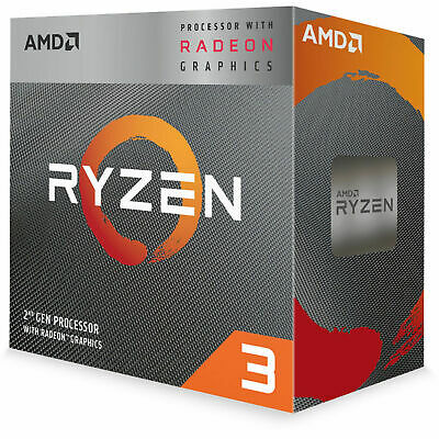 AMD Desktop CPU Ryzen 3 3200G AM4 4 Core 4 Thread 3.6 GHz 4 MB Cache Processor