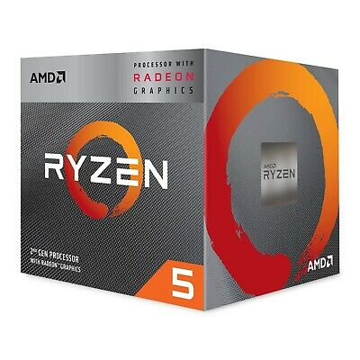 AMD Desktop CPU Ryzen 5 3400G AM4 4 Core 8 Thread 3.7 GHz 4 MB Cache Processor