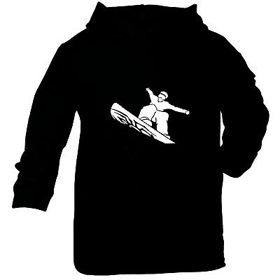 Skiing Snowboarding Baby Infants Cotton Hoodie Hoody Funny - Cool Snowboarder