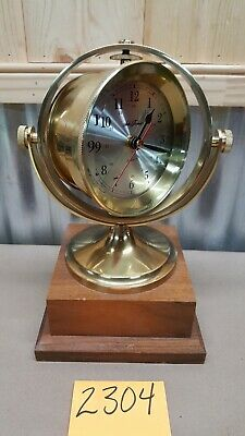 Seth Thomas Brass Nautical Schooner Clock Model 1044