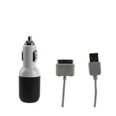"""Usb Car Charger For Apple Ipad 2A5V Black With 39"""" Usb Data With Usb Data Cable"""