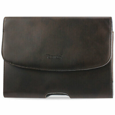 Reiko Smooth Horizontal Leather Pouch In Brown