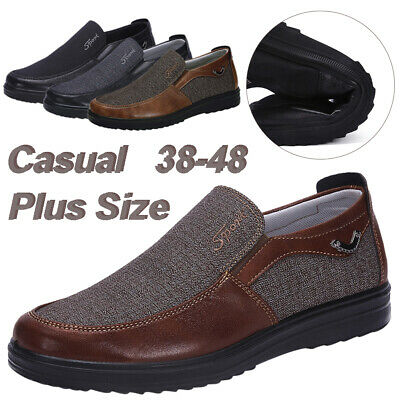 Men's Soft Old Beijing Style Casual Cloth Shoes Antiskid Loafers Breathable 6-13
