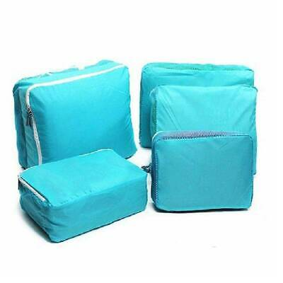 5PCS Travel Packing Cube Pouch Suitcase Clothes Storage Bags Luggage Organizer