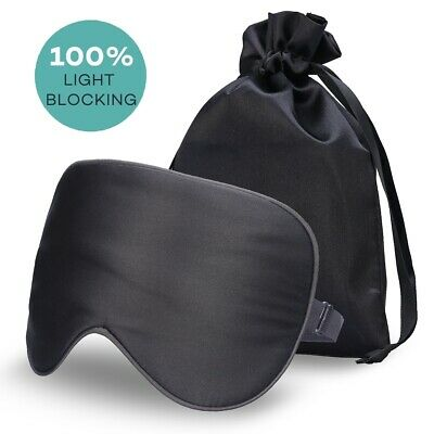 Pure Silk Filled Sleep Eye Mask Sleeping Eye blindfold Eyeshades For Trip Travel