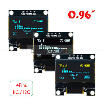 "0.96"" 128x64 OLED LED Display 4Pins I2C IIC Serial LCD SSD1306 Yellow/Blue/White"