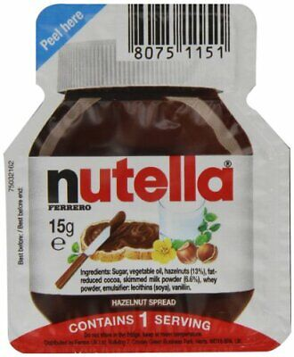 Ferrero Nutella Portion Catering Karton 120 Einzelportionen 1800g